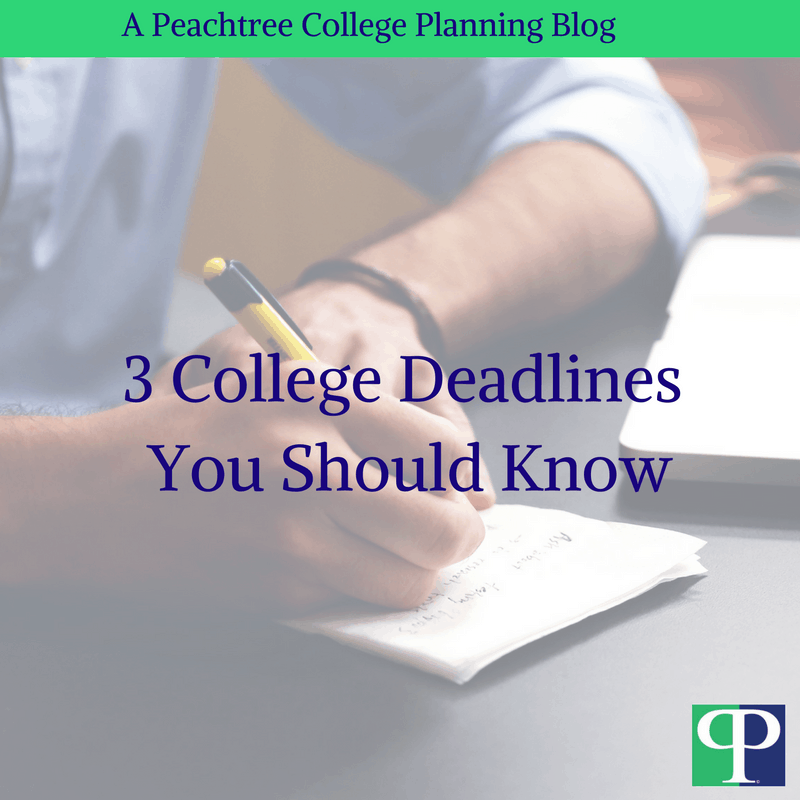 3 College Deadlines You Should Know