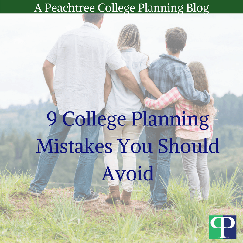 College Planning Mistakes